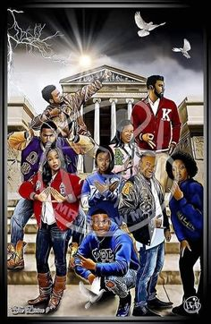 Kappa Alpha Psi Fraternity, Omega Psi Phi, Alpha Kappa Alpha Sorority, Zeta Phi Beta, Delta Sigma Theta, Sorority Life, Black Fraternities, Divine Nine, Greek Art