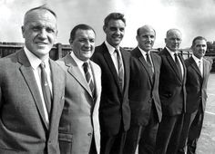 The Boot Room Boys: Bill Shankly, Bob Paisley, Joe Fagan, Ronnie Moran - all former Liverpool FC managers - with Reuben Bennett and Tom Saunders. Women's Cycling Jersey, Cycling Art, Cycling Quotes, Cycling Jerseys, Best Football Team, Liverpool Football Club, Liverpool Fc Managers, Bob Paisley, Bill Shankly