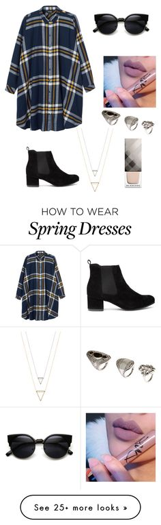 """Untitled #347"" by estexime on Polyvore featuring Monki, H&M and Burberry"