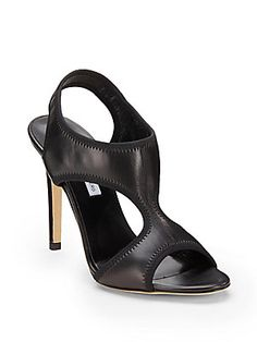 DVF Urban Stretch-Leather Sandals