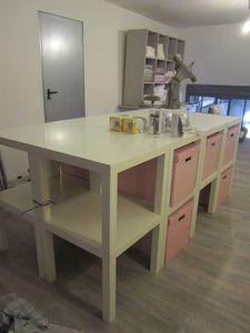 Meubles pour rangement de bricolage on pinterest bricolage ranger and atelier for Rangement petit espace ikea