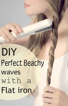 How to Get Perfect Beach Curls Whether you are going to the beach or not, a beachy wave is one hairdo that'd never fail you. 5 Ways To Change Up Your Hair beauty Excellent Beauty detail are offered on our web pages. Read more and you wont be sorry you d Curly Hair Styles, Medium Hair Styles, Beach Curls, Beach Waves Long Hair, Hair Styles Beach Waves, Diy Hair Waves, How To Curl Your Hair, How To Curl Hair With Flat Iron, Beach Waves With Flat Iron