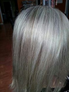 Transitioning to natural grey doesnt have to be so painful. Keeping a strict regimen of highlights and lowlights in the coolest of ash shades, this guest is on her way. Created by Dessiree at our Salem shop.