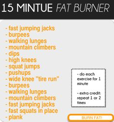 BURN FAT by doing these exercises!