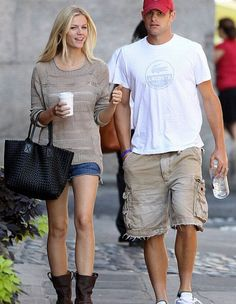 Brooklyn Decker with husband Andy Roddick...love the Frye boots with shorts and slouchy shirt