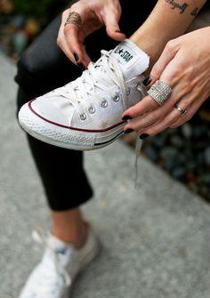 What Katie Wore: Converse Sneakers // TKC