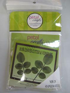 Petal Crafts Rose Leaves Cutter & Veiner Set gum paste cake decorating supplies #PetalCrafts