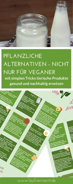 Herbal alternatives are not an issue for vegans. You can find a vegan substitute for almost all animal foods in the practical Printable! Herbal alternatives - not just for vegans - love running Laufvernarrt - Fitness, gesunde Ernährung und Selbstli Diet And Nutrition, Healthy Diet Tips, Healthy Smoothies, Complete Nutrition, Nutrition Guide, Nutrition Tracker, Nutrition Shakes, Holistic Nutrition, Vegan Substitutes