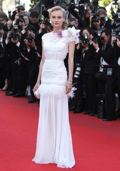 Actress Diane Kruger arrives for the screening of Killing Them Softly at the 65th international film festival, in Cannes, southern France, Tuesday, May 22, 2012. (AP Photo/Joel Ryan)