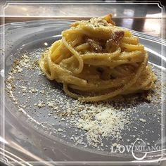 Carbonara @ L'Ov Milano con spaghettoni Verrigni