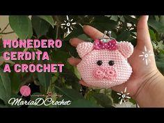 Knit Crochet, Crochet Hats, Girls Bags, Crochet Purses, Crochet Videos, Coin Purse, Knitting, Pink, Handmade