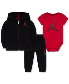 40aae2402961 Jordan Baby Boys  3-Pc. Air Fleece Hoodie