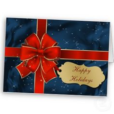 #blue #red gift wrap #holidays #christmas #greetings #elegant #festive by #mgdezigns