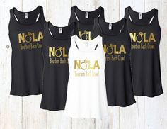 Bachelorette Shirt NOLA Tank New Orleans Tank Wedding by Eventees