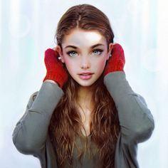 Иракли Надар, цифровые портреты девушек