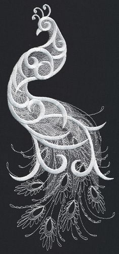 White Peacock design (UT12329) from UrbanThreads.com