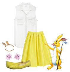 """Rabbit"" by heatherchristine1408 ❤ liked on Polyvore featuring Equipment, Nine West and Swarovski"