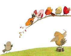 Children's Book Illustration, Book Illustrations, Bird Book, Sweet Pic, Make Pictures, Cute Doodles, Bird Cages, Bird Art, Bird Feathers
