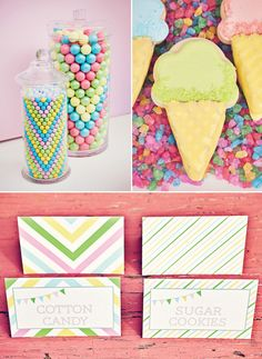 chevron pastel sweet shoppe party: candy *in a chevron pattern*  SERIOUSLY?!  Coolest thing ever. {Paiges of Style}