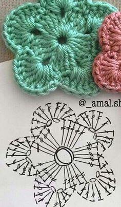 Crochet flowers for hats granny squares 28 Best Ideas Croch… – Granny Square Crochet Square Patterns, Crochet Motif, Crochet Designs, Knitting Patterns, Knit Crochet, Crochet Baby, Bonnet Crochet, Crochet Doilies, Crochet Flower Hat