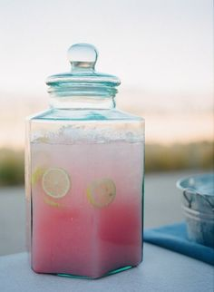 Pink Lemonade Ingredients 2 cups white sugar 9 cups water 2 cups fresh lemon juice 1 cup cranberry juice, chilled Directions In large pitcher combine sugar, water, lemon juice and cranberry juice. Stir to dissolve sugar. Serve over ice.