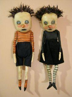 weird art doll in shorts odd boy doll weird by sandymastroni