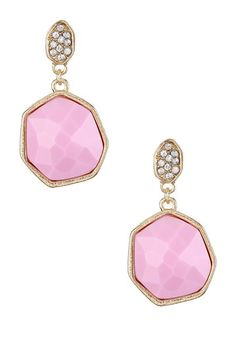 Pave Crystal Post Earrings on HauteLook