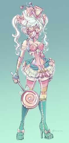 Candy Steampunk Sketch by ~NoFlutter on deviantART... could be a good idea for a villian? :D