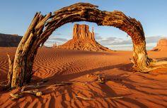 Arch window to monument valley by Matthew Scott Cooper