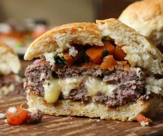 Skillet Blue Cheese Burger