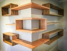 Building some DIY corner shelves might be a great idea for your next weekend project. Corner shelves are a smart solution for your small space. If you want to have shelves but you don't want to be too much on . Wood Projects, Woodworking Projects, Woodworking Plans, Woodworking Furniture, Woodworking Classes, Popular Woodworking, Project Projects, Woodworking Shop, Woodworking Techniques