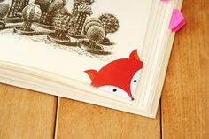 DIY - Printable fox corner bookmark (By Wilma)