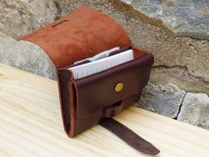 Leather Wallet, Personalized Minimalist Wallet, Coin Purse, Card Case,Leather Card Holder.