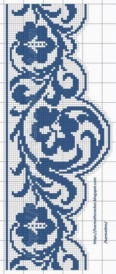 Cross Stitch Borders, Cross Stitch Flowers, Fair Isle Knitting, Knitting Yarn, Filet Crochet, Crochet Lace, Crochet Curtains, Double Knitting, Crochet Patterns