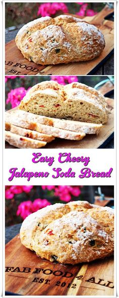 Easy Cheesy Jalapeno Soda Bread, delicious and perfect with soup! Fab ...