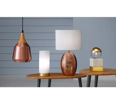 £28 Buy Collection Coleridge Antique Copper and Wood Pendant Light at Argos.co.uk, visit Argos.co.uk to shop online for Ceiling and wall lights, Lighting, Home and garden