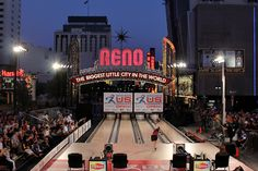 Bowling's Women's U.S. Open, outside, under the Reno Arch in downtown