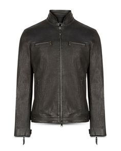 Leather Jackets Online, John Varvatos, Slim, Jacket Men, Coat, Fitness, Sleeves, Shopping, Black