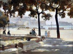 Galante Francesco (Margherita di Savoia, FG 1884 - Napoli 1972) Beatitudine olio su tavola, cm 30x40