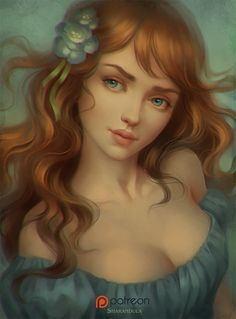 """cyrail: """" portrait by sharandula Featured on Cyrail: Inspiring artworks that make your day better """""""