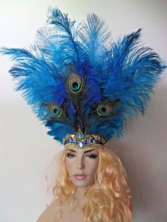 bbbd6448841 ... Carnival Samba Showgirl Masquerade Headdress Headpiece  fashion   clothing  shoes  accessories  costumesreenactmenttheater  accessories  ad ( ebay link)