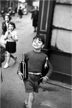 "A picture taken by one of my favorite photographers, Henri Cartier-Bresson, is an example of proximity and exactitude in this picture or better said, "" the decisive moment."""