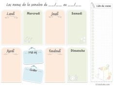 Le premier semainier de menus créé par ListoLabo :-)