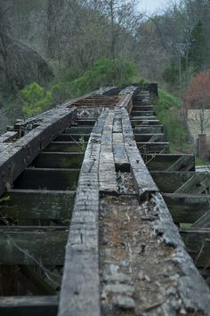 Wooden Railroad Trestles | Railroad trestle - top view | Flickr - Photo Sharing!