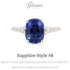 She'll be the star, as is this lovely sapphire gemstone ring! // @gfinejewelry