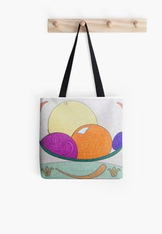 'Citrus Bowl' Tote Bag by SavantArtist Large Bags, Small Bags, Transparent Stickers, Medium Bags, Iphone Wallet, Sell Your Art, Cotton Tote Bags, Diaper Bag, Shopping Bag