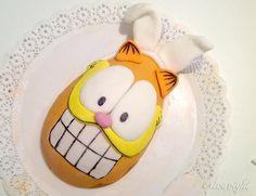 """Garfield Chocolate Egg - ovo de páscoa do Garfield, com recheio de """"torta de limão""""."""