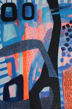 60x90cm mixed media on canvas, Ulrike Föst, German artist