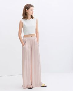 WIDE PALAZZO TROUSERS from Zara