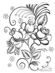 Jacobean Embroidery, Folk Embroidery, Vintage Embroidery, Embroidery Patterns, Coloring Books, Coloring Pages, Hand Embroidery Projects, Tole Painting, Stencil Designs